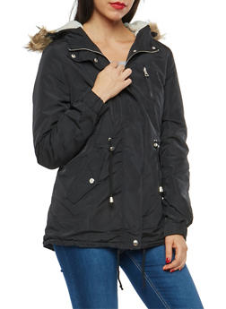 Sherpa Lined Hooded Jacket - 3086054268872