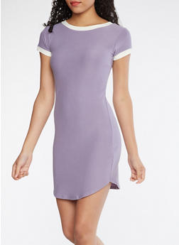 Soft Knit T Shirt Dress - 3094015050296