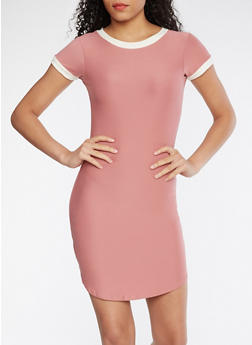 Soft Knit T Shirt Dress - MESA ROSE - 3094015050296
