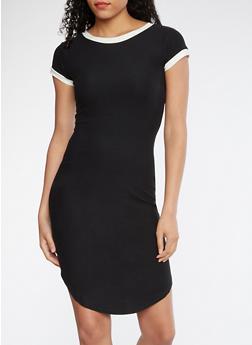 Soft Knit T Shirt Dress - 3094015050470