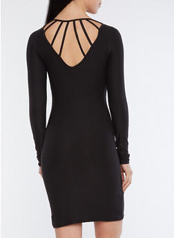 Caged Back Bodycon Dress - 3094015050712