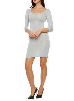 Mini Dress in Marled Knit - 3094038341904