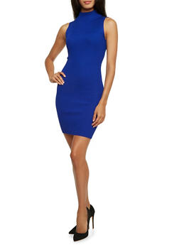 Sleeveless Bodycon Dress in Ribbed Knit - 3094038346355