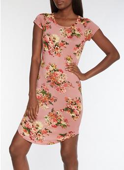 Floral T Shirt Dress - 3094058939719