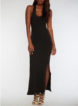 Soft Knit Racerback Maxi Dress - 3094060580125