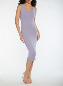 Soft Knit Midi Bodycon Dress - 3094060580250