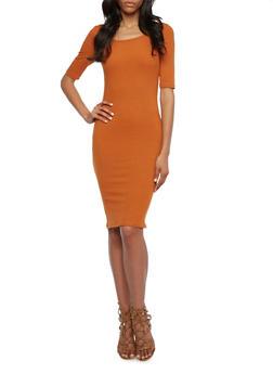 Ribbed Midi Dress - 3094060582479