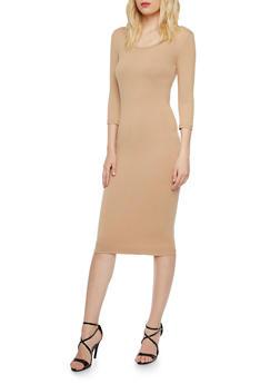 Bodycon Midi Dress - 3094060583350