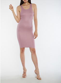 Sleeveless Open Side Midi Dress - 3094061639503