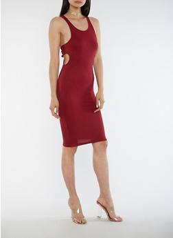 Sleeveless Open Side Midi Dress - 3094061639503