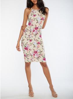Floral Bodycon Cami Dress - 3094069390212