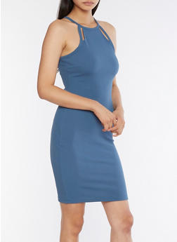Textured Knit Bodycon Dress - 3094069392260