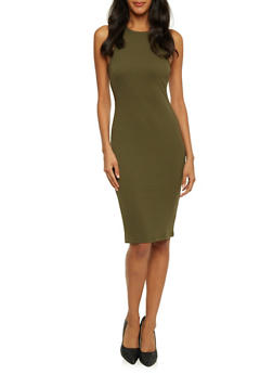 Sleeveless Dress in Bodycon Fit - 3094069393464