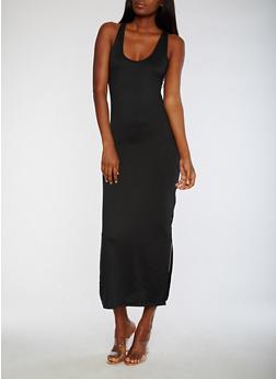 Sleeveless Solid Maxi Dress - 3094073374595
