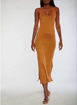 Sleeveless Solid Maxi Dress - 3094073374595