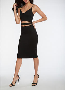 Open Front Bodycon Dress - 3096058752750