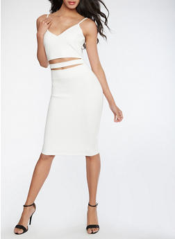 Open Front Bodycon Dress - WHITE - 3096058752750