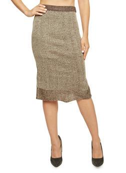 Knit Midi Skirt - 3097038347481