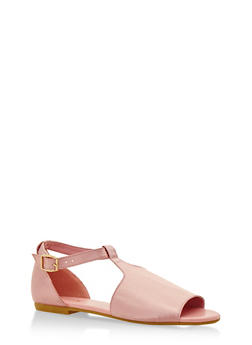 Hooded T Strap Sandals - 3110004065367