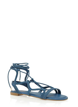 Lace-Up Sandals - 3110004067228
