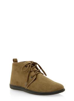 Brushed Suede Desert Boots - OLIVE - 3110068757225
