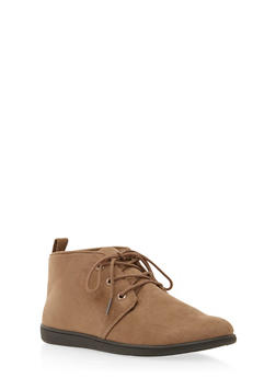 Brushed Suede Desert Boots - TAUPE - 3110068757225