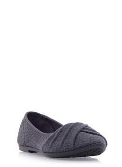 Round-Toe Flats with Pleated Toe Box - 3110073325937