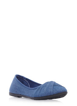 Round-Toe Flats with Pleated Toe Box - 3110073325937