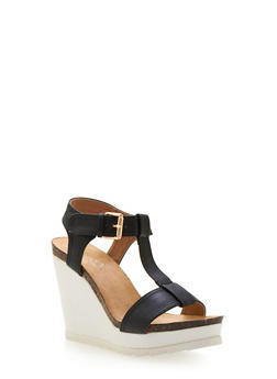Platform Wedges with Lasercut Braided Design - 3110073497842
