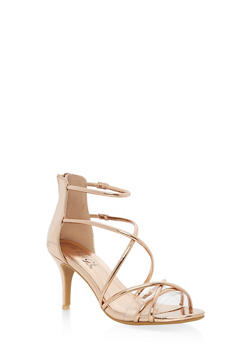 Strappy Mid Heel Sandals - 3111004064280