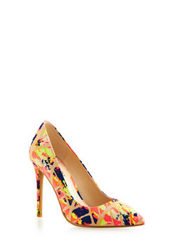 Pointed-Toe Pumps with Stiletto Heels - 3111004067477