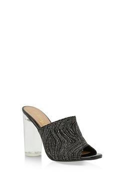 Clear Heel Mule Sandals - 3111004068774