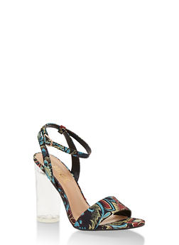 Clear High Heel Sandal with Ankle Strap - 3111004068775