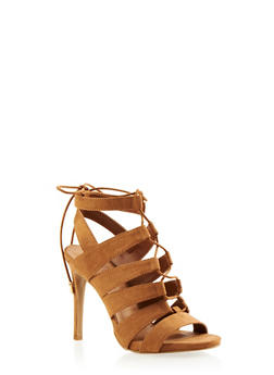 Cage Sandals with Lace-Up Front - 3111004068783