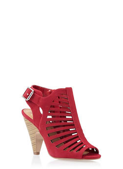 Open-Toe Cage Booties - 3111006517425