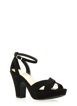 Platform Sandals with Ankle Strap - 3111014066460