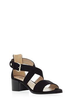 Criss Cross Mid Heel with Buckle - 3111057181611