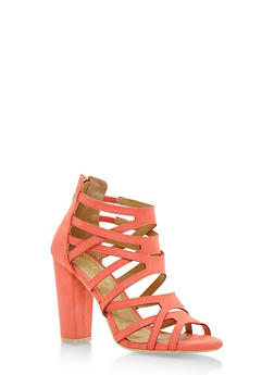 Strappy Open Toe High Heel Sandals - 3111057195254