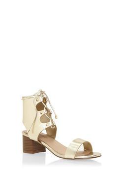 Metallic Ghillie Sandals - 3111065484343