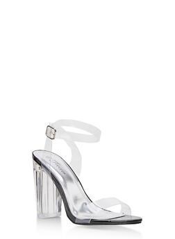 Clear High Heel Sandals - 3111070403929