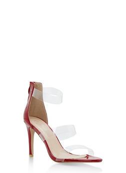 Clear Strap High Heel Sandals - 3111070407692