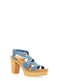 Strappy Platform Sandals - 3111073115654