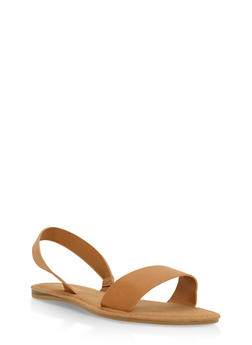 Slingback Flat Sandals - TAN - 3112004062553