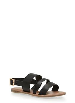 Triple Strap Slingback Sandals - 3112004062555