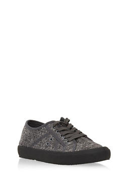 Lace Up Canvas Tennis Sneakers - 3112004069466