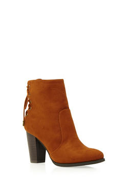 Ankle Boots with Lace-Up Back - 3113004062433
