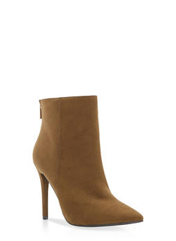 High Heel Booties with Back Zipper - 3113004063336