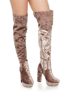 Over the Knee Platform Boots - 3113004064670