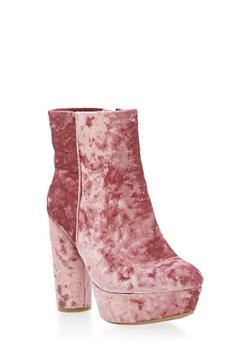 High Heel Platform Ankle Booties - 3113004064671