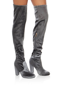 Over the Knee High Heel Boots - 3113004065484